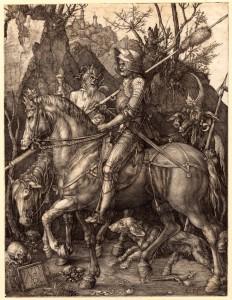 4.-Albrecht-Durer-Rycerz-+Ťmier¦ç-i-diabe+é-1513