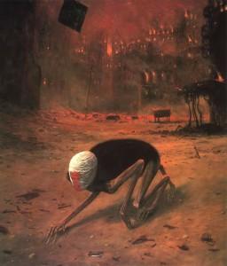 Zbigniew-Beksiński_Pełzająca-śmierć
