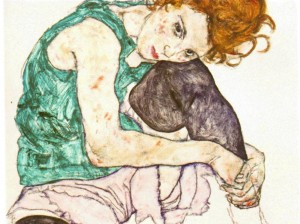 schiele.sitting-woman