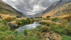 skaly-dolina-potok-trawa